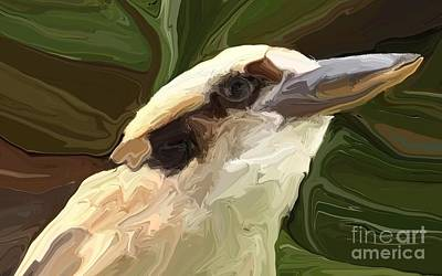 Kingfisher Digital Art - Kookaburra by Chris Butler