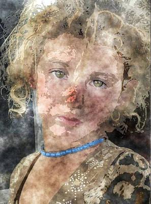 Refugee Girl Painting - Kurdish Refugees by MotionAge Designs