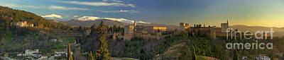 La Alhambra Granada Spain Print by Guido Montanes Castillo