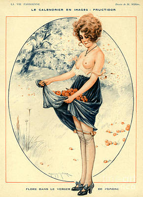 10s Drawing - La Vie Parisienne 1918 1910s France by The Advertising Archives