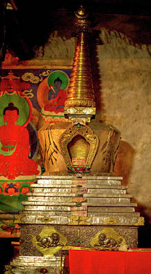 Religious Artist Photograph - Ladakh, India The Interior Of The Hemis by Jaina Mishra