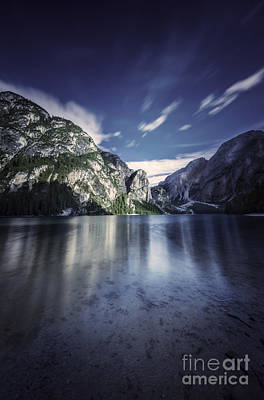 Lake Braies And Dolomite Alps, Northern Print by Evgeny Kuklev