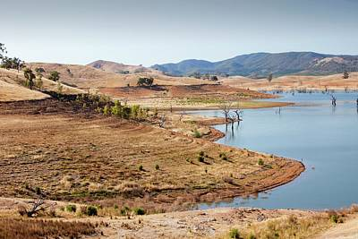 Dry Lake Photograph - Lake Eildon In Drought by Ashley Cooper