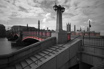 Lambeth Bridge Thames London Print by David French