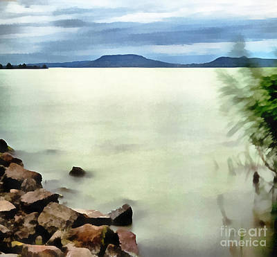 Water Filter Painting - Landscape Of The Balaton Lake by Odon Czintos