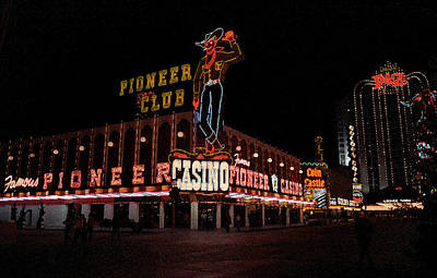 Glitter Gulch Photograph - Las Vegas With Watercolor Effect by Frank Romeo