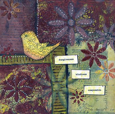3 Little Words Print by Sue Brassel