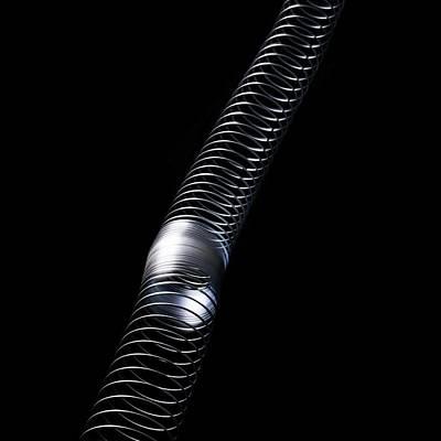 Longitudinal Wave Print by Science Photo Library