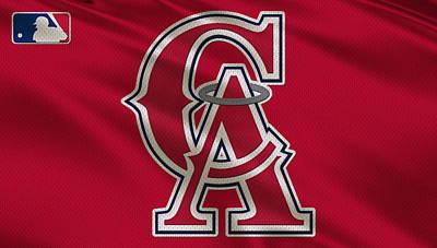 Baseball Photograph - Los Angeles Angels Uniform by Joe Hamilton