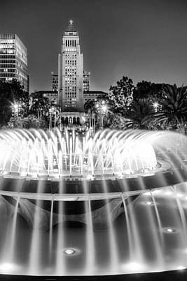 California Photograph - Los Angeles City Hall As Seen From The Grand Park by Celso Diniz