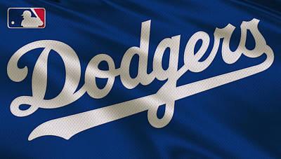 Los Angeles Dodgers Uniform Print by Joe Hamilton