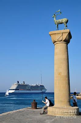 Statue Painting - Mandraki Port by George Atsametakis