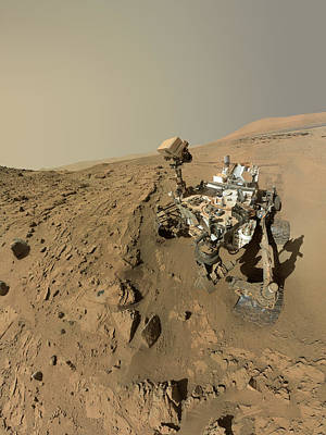 Self Photograph - Mars Curiosity Rover Self-portrait by Nasa/jpl-caltech/msss