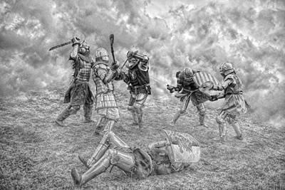Hurt Digital Art - Medieval Battle by Jaroslaw Grudzinski