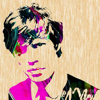 Stones Mixed Media - Mick Jagger Of The Rolling Stones1964 Painting by Marvin Blaine