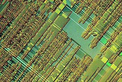 Silicon Photograph - Microchip by Alfred Pasieka