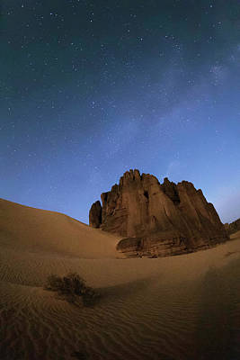 Milky Way Over The Sahara Desert Print by Babak Tafreshi