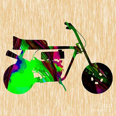 Motorcycle Mixed Media - Mini Bike by Marvin Blaine