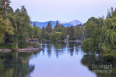 Deschutes Photograph - Mirror Pond by Twenty Two North Photography