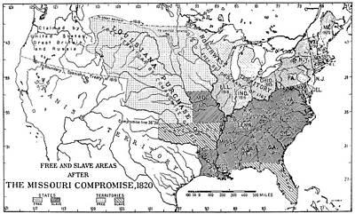 Manifest Destiny Painting - Missouri Compromise, 1820 by Granger