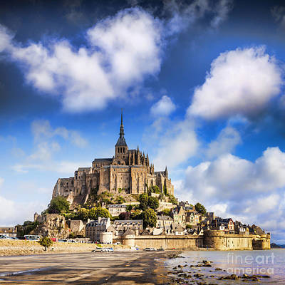 Mont St Michel Normandy France Print by Colin and Linda McKie