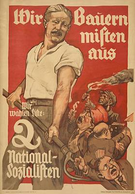 Nazi Party Photograph - Nazi Party Poster For The German by Everett