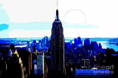 Black Background Mixed Media - New York City by Celestial Images