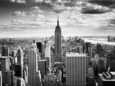 Empire State Photograph - Nyc Downtown by Nina Papiorek