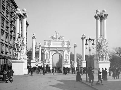 Nyc, Madison Square, Dewey Arch, 1900 Print by Science Source
