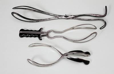Obstetric Forceps Print by Science Photo Library