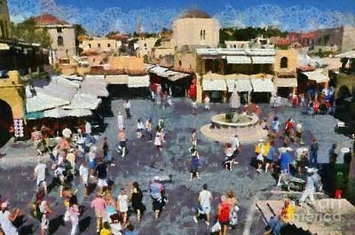 Old City Of Rhodes Print by George Atsametakis