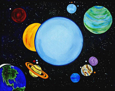 Deep Space Art Painting - Once In A Blue Moon by Donna Proctor