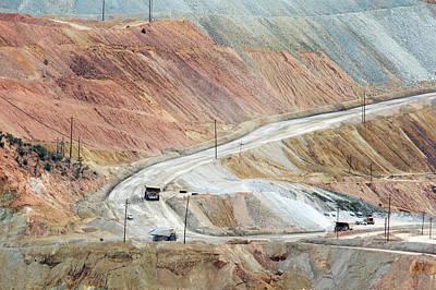 Open-cast Copper Mine Print by Jim West