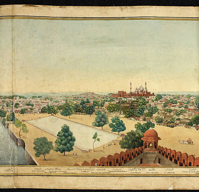 Dilli Photograph - Panorama Of Delhi by British Library
