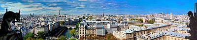 Tower Photograph - Paris Panorama France by Michal Bednarek