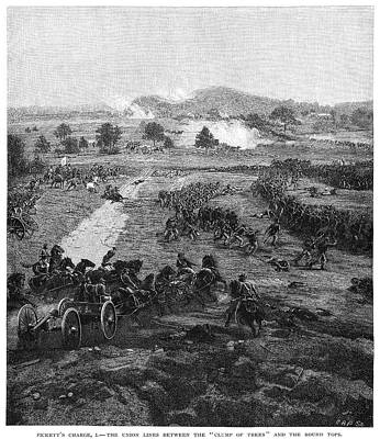 Yankees Painting - Pickett's Charge, 1863 by Granger