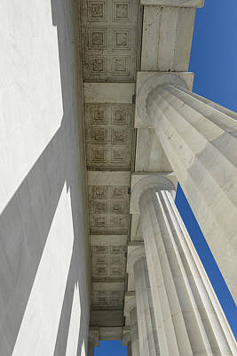 Law Photograph - Pillars At Lincoln Memorial by Brandon Bourdages