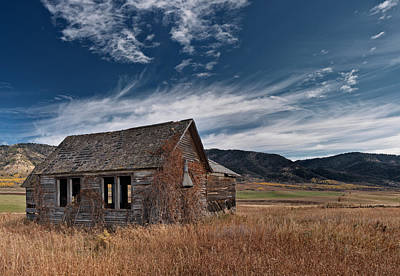 Old West Photograph - Pioneer Cabin  by Leland D Howard