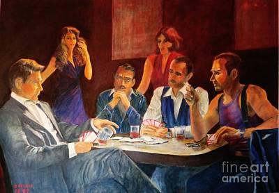 Dagmar Painting - Pokertable by Dagmar Helbig