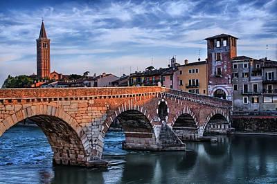 Shakespeare Photograph - Ponte Pietra Verona by Carol Japp