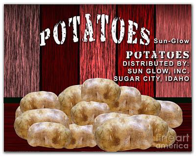 Potato Farm Print by Marvin Blaine