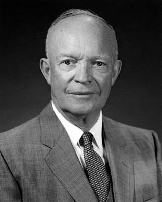 Dwight Photograph - President Dwight Eisenhower  by War Is Hell Store