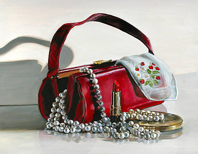 Leather Purses Painting - Pretty Woman by Gail Chandler