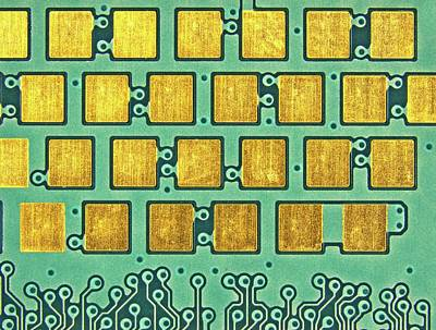 Microchip Photograph - Printed Circuit by Alfred Pasieka