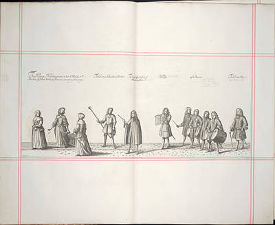 Procession Print by British Library
