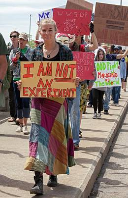Protest Against Gm Crops Print by Jim West