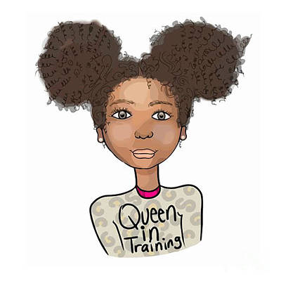 Afrocentric Digital Art - Queen In Training by Respect the Queen