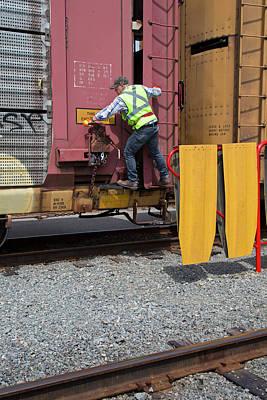 Rail Yard Print by Jim West