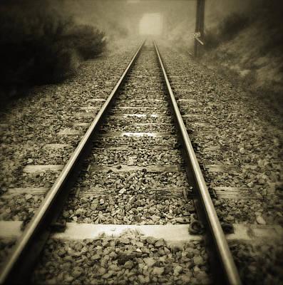 Railway Tracks Print by Les Cunliffe