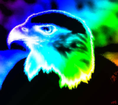 Eagle Painting - Rainbow Eagle by Bruce Nutting
